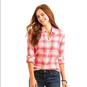 VINEYARD VINES Pink Resort Plaid Button Up Shirt